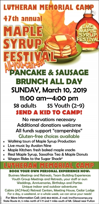 47th Annual Maple Syrup Festival