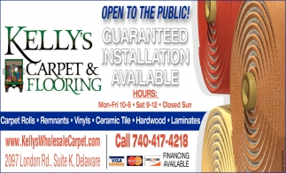 Guaranteed installation available