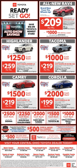 Toyota Dealers In Delaware >> Visit Your Central Ohio Toyota Dealer Today Toyota Ohio