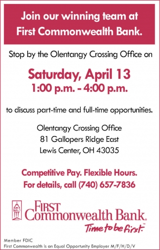 Competitive Pay. Flexible Hours
