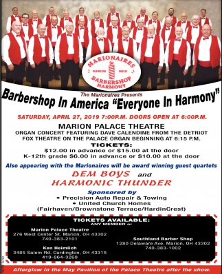 Barbershop In America Everyone in Harmony
