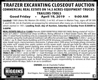 Trafzer Excavating Closeout Auction