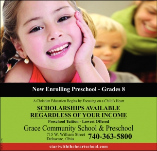 Now Enrolling Preschool - Grades 8