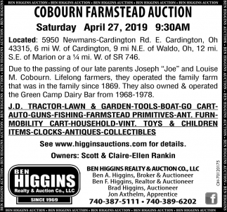 Cobourn Farmstead Auction