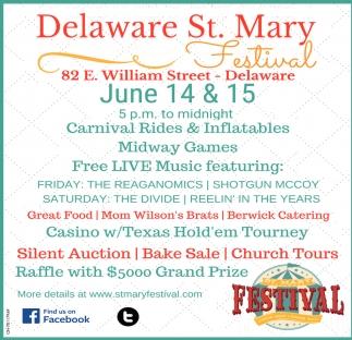 Delaware St. Mary Festival - June 14 - 15