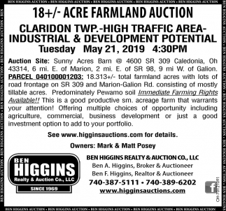 Acre Farmland Auction
