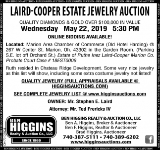 Laird-Cooper Estate Jewelry Auction