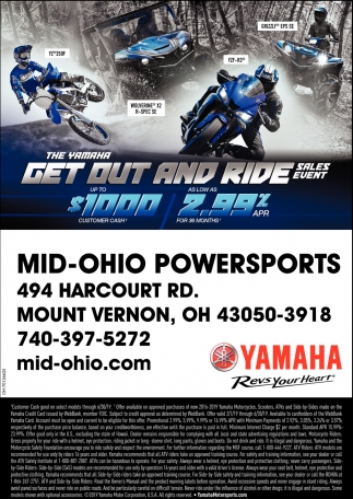 Get Out and Ride Sales Event