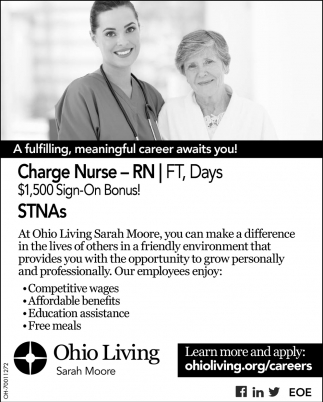 Charge Nurse, STNAs