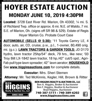 Hoyer Estate Auction