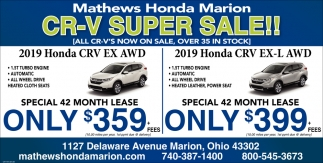 CR-V Super Sale!