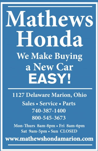 We Make Buying a New Car Easy!