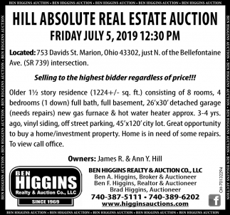 Hill Absolute Real Estate auction